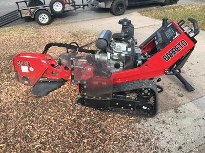 stump grinding removal grinder